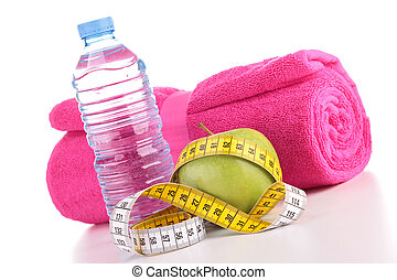 fitness equipment, diet food