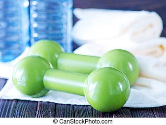 Fitness equipment dumbbells