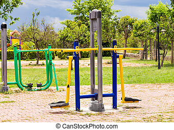 fitness equipment in a park