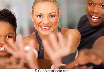 fitness, exciter, équipe