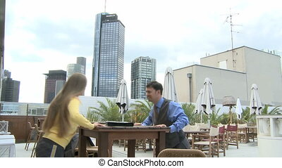 Fitness exercise at a table