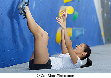 fitness female exercising in the gym