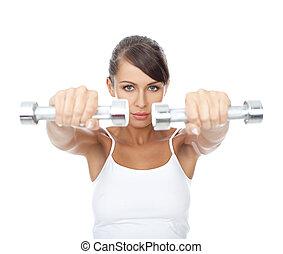 fitness, flicka