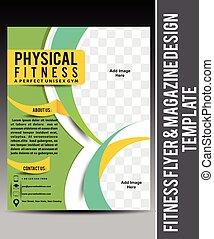 Fitness Flyer & Magazine Design Template vector illustration