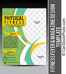 Fitness Flyer & Magazine Design Template