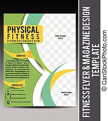 Fitness Flyer & Magazine Design Template vector illustration