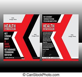 fitness Flyer Template Vector illustration