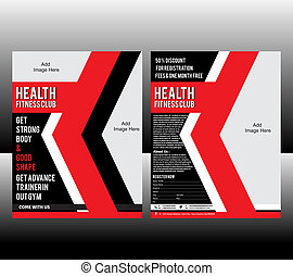 fitness Flyer Template Vector illustration