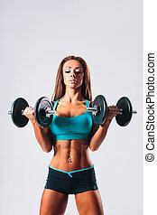 fitness, frau