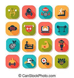 fitness, gezondheid, iconen