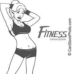 fitness girl body