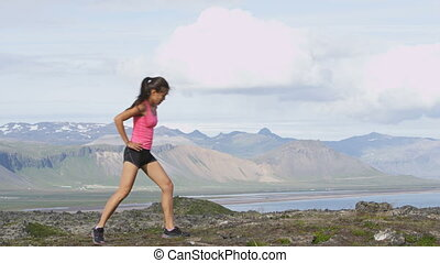 Fitness girl doing lunges exercise in nature. Female sport ...