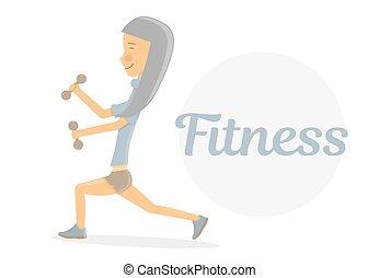 Fitness girl logo.