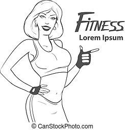fitness girl power woman beauty sport