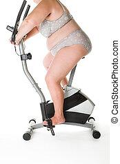 fitness, graisse, femme