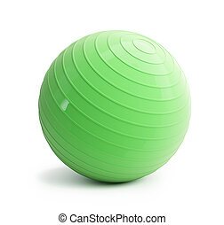 fitness green ball