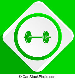 fitness green flat icon