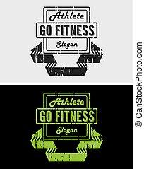 Fitness Grunge Vintage Logo & Badges