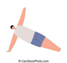 fitness guy illustration doing yoga