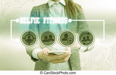 fitness., gym., 作品, 正文, 笔迹, 本身, selfie, 概念, 测验, 内部, 意思, 或者, ...