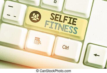 fitness., gym., 作品, 正文, 词汇, 本身, selfie, 测验, 内部, 概念, 或者, 图画, ...