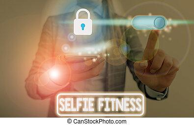 fitness., gym., 正文, 笔迹, 本身, selfie, 概念, 测验, 内部, 意思, 或者, 图画, ...