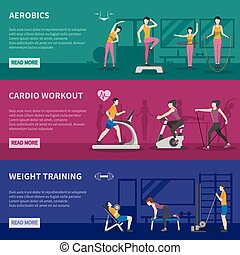 Fitness Gym Training Banners