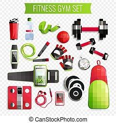 Fitness Gym Transparent Set