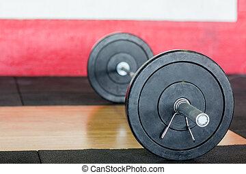 fitness, hantel, zentrieren, boden