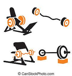 fitness, icônes