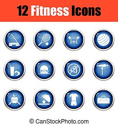 Fitness icon set.