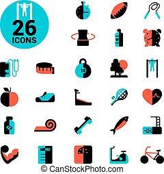 Fitness Icon Set