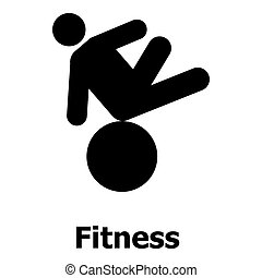 Fitness icon, simple style