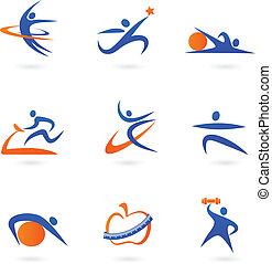 Fitness icons - 2  - Collection of fitness icons