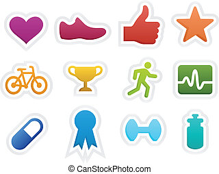 Fitness Icons - Fitness icons. EPS10. Gradients used.