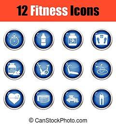 fitness, ikon, set.