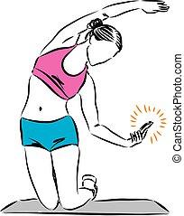fitness, il, téléphone, séance entraînement, femme