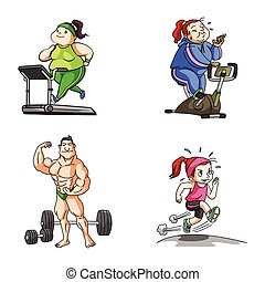 fitness illustration design