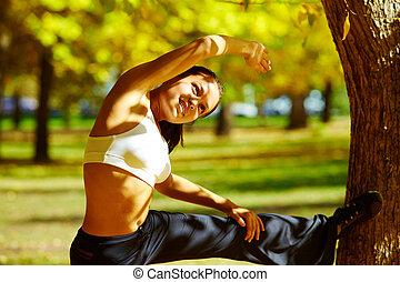 fitness, in het park