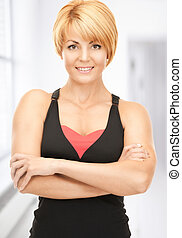 fitness instructor - bright picture of lovely fitness...