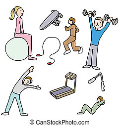 Fitness Items - An image of a people using fitness items.