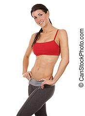 fitness, kvinna