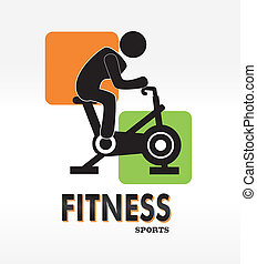 fitness label over white background vector illustration