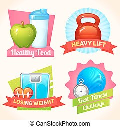 Fitness labels set