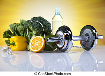 fitness, lebensmittel, diät, sonnenschein