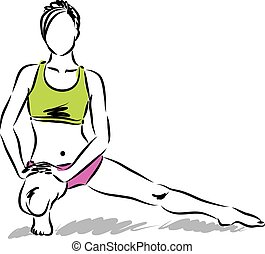 fitness, m�dchen, abbildung