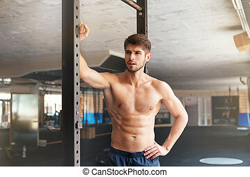 fitness man in gym