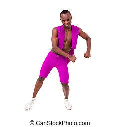 fitness man posing