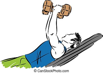 fitness man vector illustration.eps