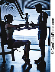 fitness, mit, trainer